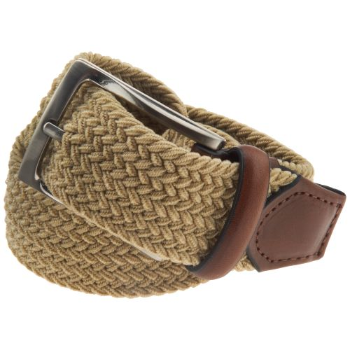 Magellan Outdoors Men's Khaki Stretch Fabric Belt