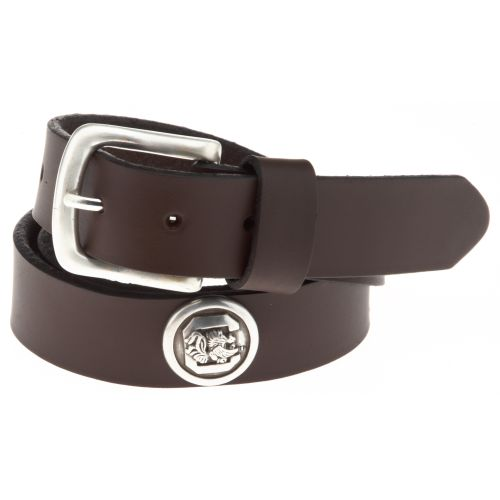 Enmon Men's Sideline Collection University of South Carolina Brown Leather Belt