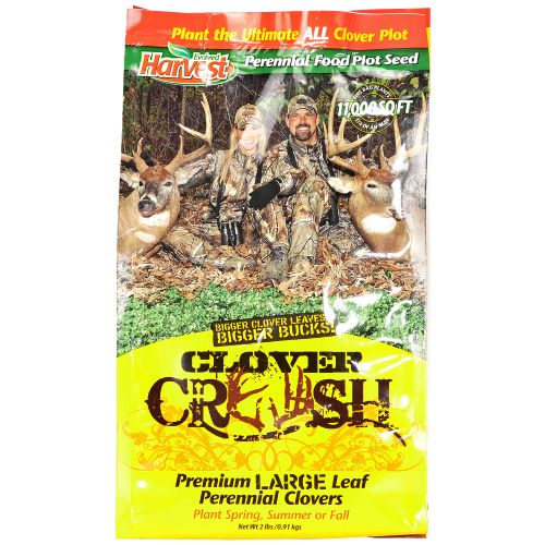 Display product reviews for Evolved Harvest Lee & Tiffany Clover Crush Food Plot Blend