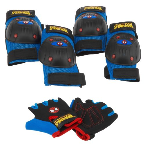 Bell Boys' Spiderman Webslinger™ Protective Gear Pad and Glove Set