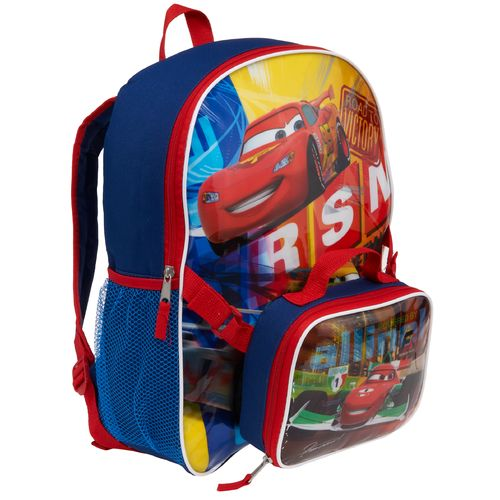 Disney Boys' Cars Backpack with Lunch Kit