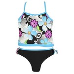 O'rageous® Girls' High Tech Daisy Tankini