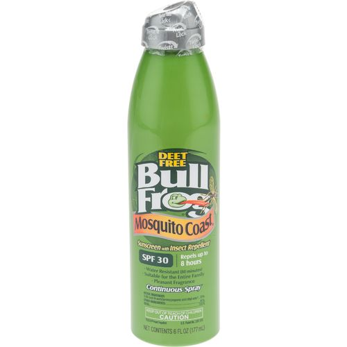Display product reviews for Bullfrog Mosquito Coast SPF 30 Sunscreen and Insect Repellent Spray