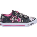 SKECHERS Girls' Twinkle Toes S Lights Shuffles Athletic Lifestyle Shoes