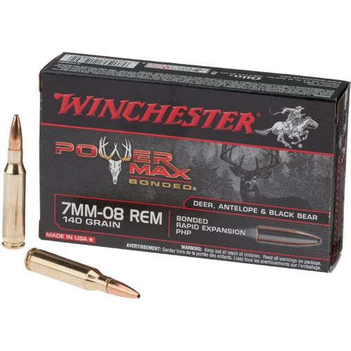 Winchester Power Max Bonded 7mm-08 Remington Centerfire Rifle Ammunition