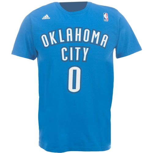 adidas Men's Oklahoma City Thunder Russell Westbrook No. 0 Game Time Flat Road T-shirt