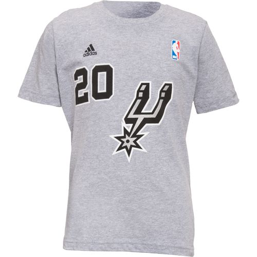 adidas™ Boys' San Antonio Spurs Manu Ginobili #20 Short Sleeve T-shirt