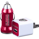 Mizco University of Alabama Home and Away USB Chargers 2-Pack