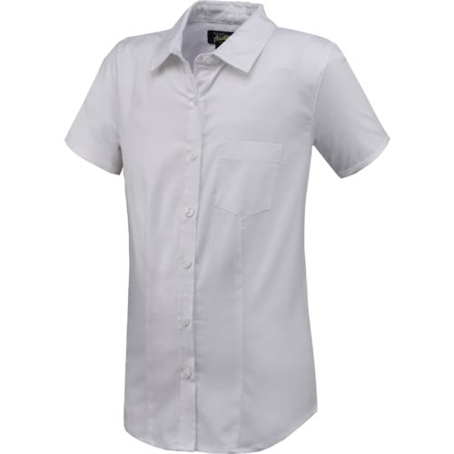 Display product reviews for Austin Trading Co. Juniors' Uniform Short Sleeve Stretch Oxford Shirt