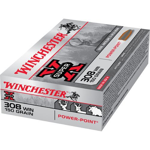 Winchester Super-X Power-Point .308 Winchester 150-Grain Rifle Ammunition - view number 1