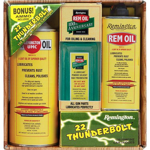 Remington RemOil 100th Anniversary Gift Pack with .22