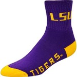 For Bare Feet Men's Louisiana State University Originals Team Quarter Socks