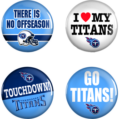 WinCraft Tennessee Titans Buttons 4-Pack