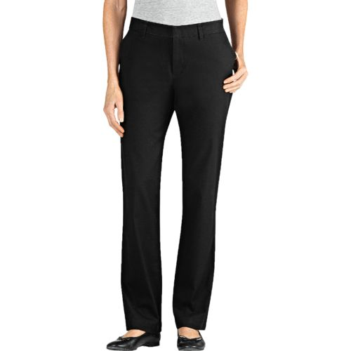 Dickies Women's Slim Fit Straight Leg Stretch Twill Pant
