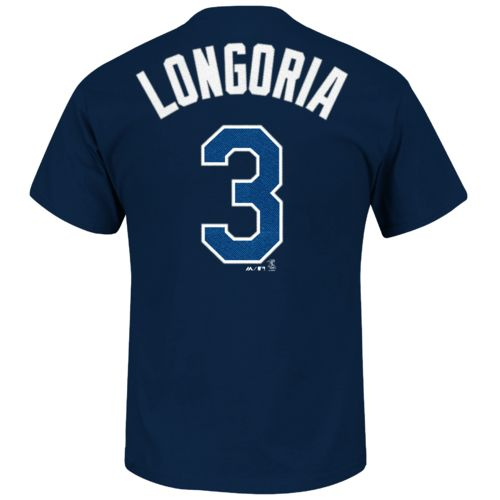Majestic Men's Tampa Bay Rays Evan Longoria #3 T-shirt - view number 1