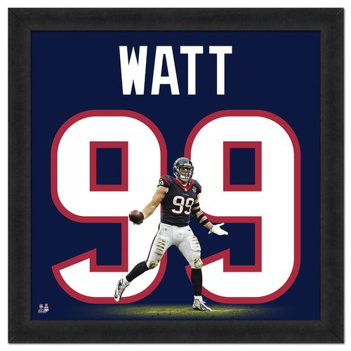 Photo File Houston Texans J.J. Watt #99 UniFrame 20' x 20' Framed Photo