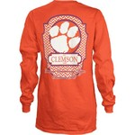 Three Squared Women's Clemson University Lattice T-shirt