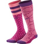 Nike Girls' Graphic Cotton Knee-High Socks 2-Pair