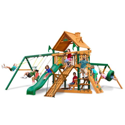 Gorilla Playsets™ Frontier Swing Set with Timber Shield™