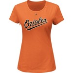 Majestic Women's Baltimore Orioles Wordmark T-shirt