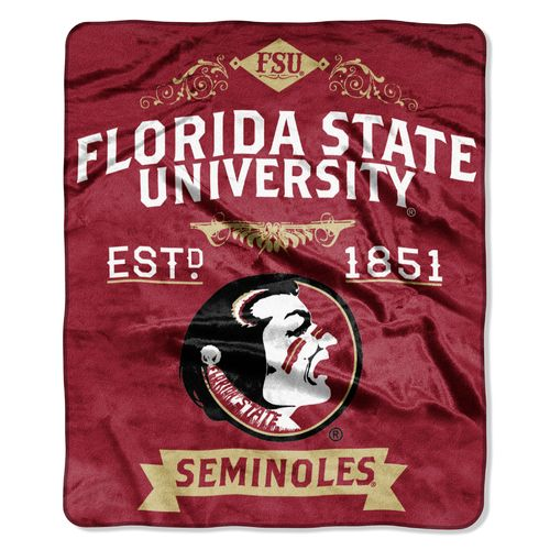 The Northwest Company Florida State University Label Raschel Throw