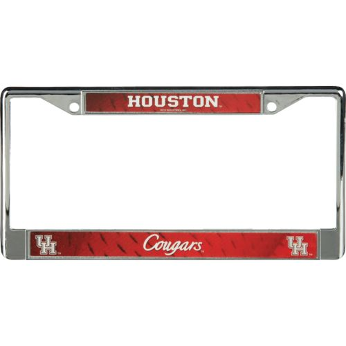 Rico University of Houston Chrome License Plate Frame