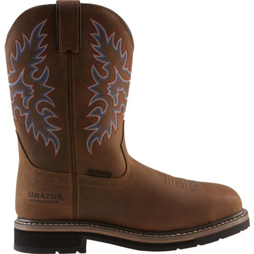Brazos Men's Bandero Square Toe Wellington Work Boots