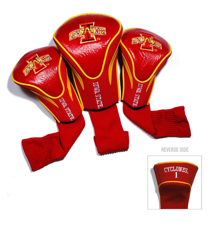 Team Golf Iowa State University Contour Sock Head Covers 3-Pack