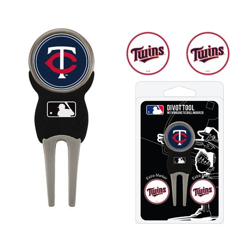 Team Golf Minnesota Twins Divot Tool and Ball Marker Set