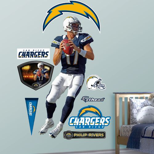 Fathead San Diego Chargers Philip Rivers Home Real Big Wall Decal