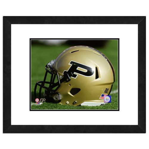 Photo File Purdue University Helmet 16' x 20' Matted and Framed Photo