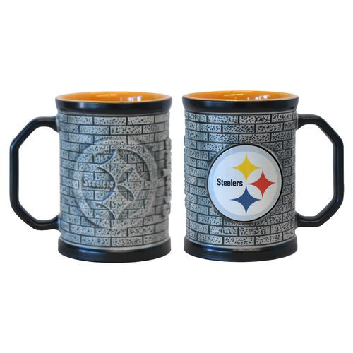Boelter Brands Pittsburgh Steelers Stone Wall 15 oz. Coffee Mugs 2-Pack