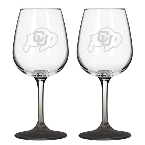 Boelter Brands University of Colorado 12 oz. Wine Glasses 2-Pack - view number 1
