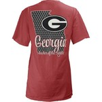 Three Squared Juniors' University of Georgia State Monogram Anchor T-shirt