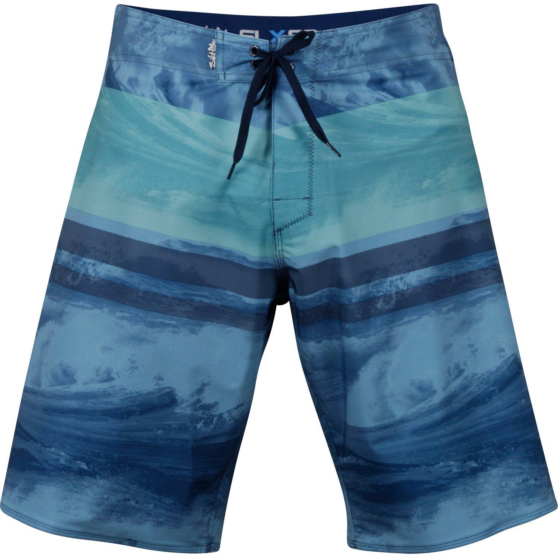 Salt Life Men's Stormy Seas Aqua Short