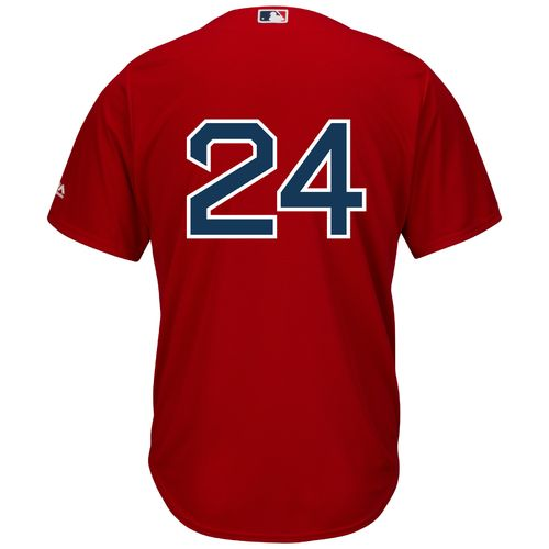 Nice Majestic Men's Boston Red Sox #24 Cool Base Replica Jersey for cheap