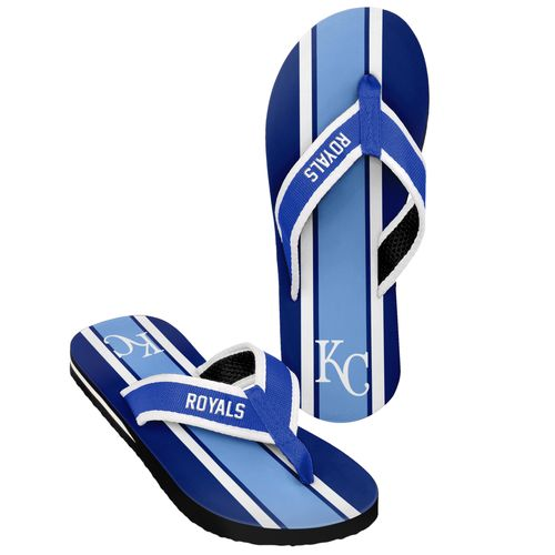 Forever Collectibles™ Men's Kansas City Royals 2016 Contour Stripe Flip-Flops