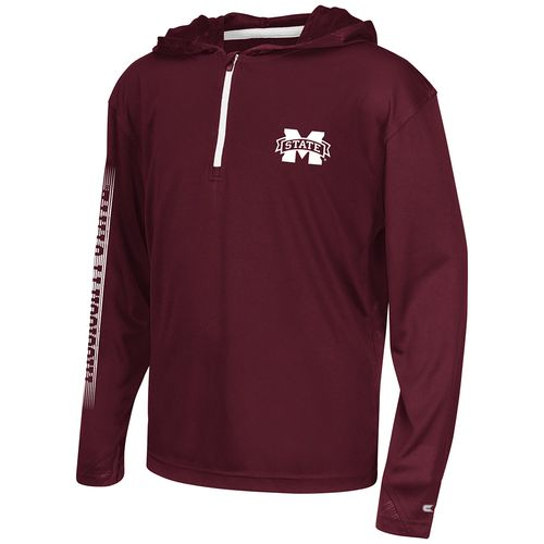 Colosseum Athletics™ Boys' Mississippi State University Sleet 1/4 Zip Hoodie Windshirt