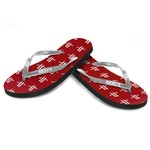 Forever Collectibles™ Women's Houston Rockets Glitter Logo Flip-Flops