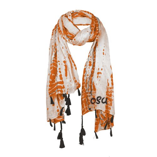 Chicka-d Women's Oklahoma State University Tie Dye Scarf