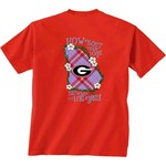 New World Graphics Women's University of Georgia Bright Plaid T-shirt