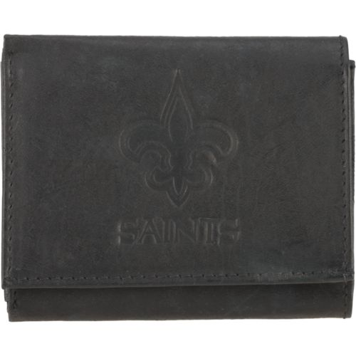 Rico Men's New Orleans Saints Embossed Trifold Wallet