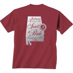 New World Graphics Women's University of Alabama Silver State Distress T-shirt