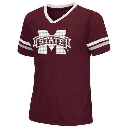 Colosseum Athletics™ Girls' Mississippi State University Titanium T-shirt