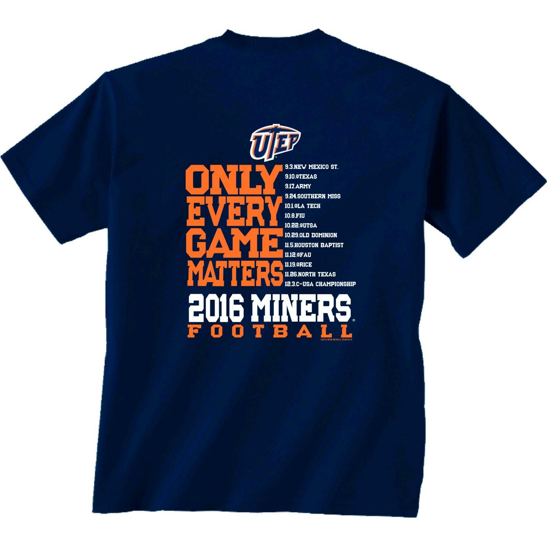 New World Graphics Men's University of Texas at El Paso Schedule T-shirt