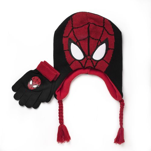 Marvel Boys' Spider-Man Cold Weather Hat Set