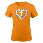 NCAA Girls' University of Tennessee Infinite Heart T-shirt