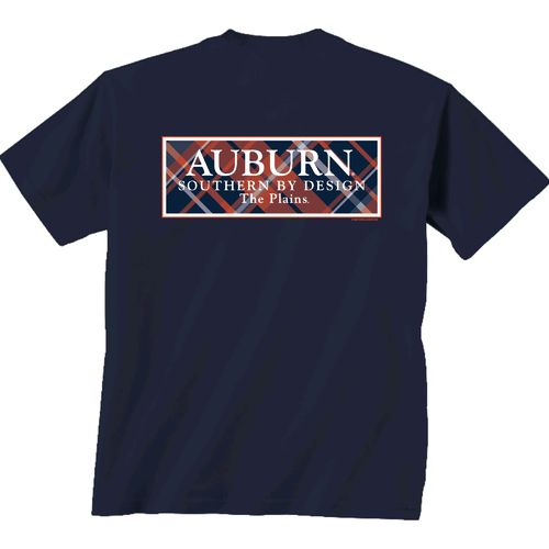 New World Graphics Women's Auburn University Madras T-shirt