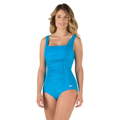 Speedo Women's Shirred Tank 1-Piece Swimsuit