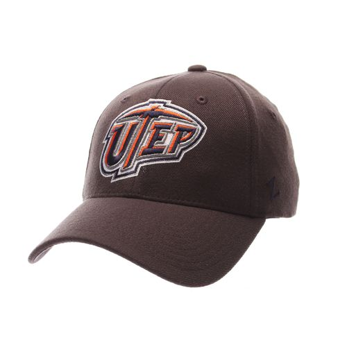 Zephyr Men's University of Texas at El Paso Charcoal Flex Cap